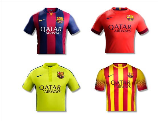 Las cuatro camisetas del barça para la temporada jpg 554x426 Camisetas del  barca 789a4483d082b