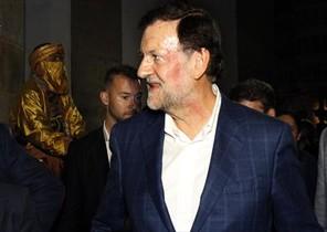 Rajoy sin gafas, tras la agresión sufrida en Pontevedra
