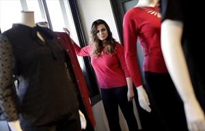 La modelo Marisa Jara, en la presentación de su colección con Elena Miró, la semana pasada en Madrid.