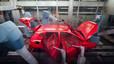 Parte del proceso de pintar un coche