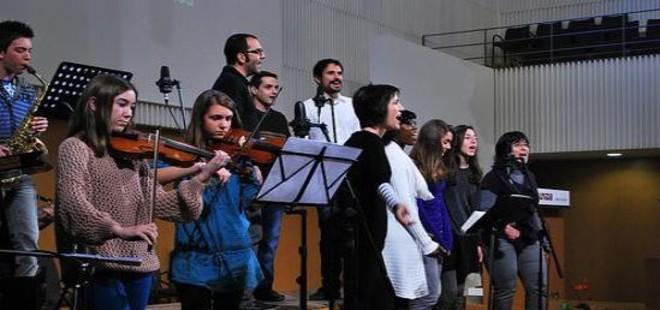 Una actuación en la Iglesia Evangélica Unida de Terrassa.