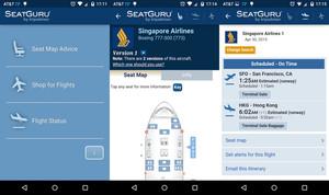 La aplicación Seatguru.