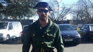 Jaime Vizern, disfrazado de guardia civil.