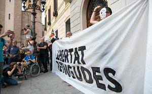 Concentración en Sabadell, el pasado 23 de septiembre, por la detención de los miembros del CDR acusados de terrorismo.