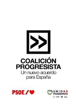 Acuerdo 'Coalición Progresista' entre Sánchez e Iglesias