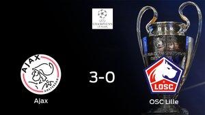 El Ajax consigue los tres puntos en casa tras pasar por encima al Lille (3-0)