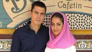 Álex González i Hiba Abouk, protagonistes de la sèrie de Tele 5 'El Príncipe'.