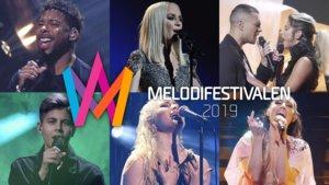 Algunos de los finalistas de esta edición del Melodifestivalen 2019.