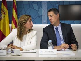 Alicia Sánchez-Camacho y Xavier García Albiol, en la sede del PPC.