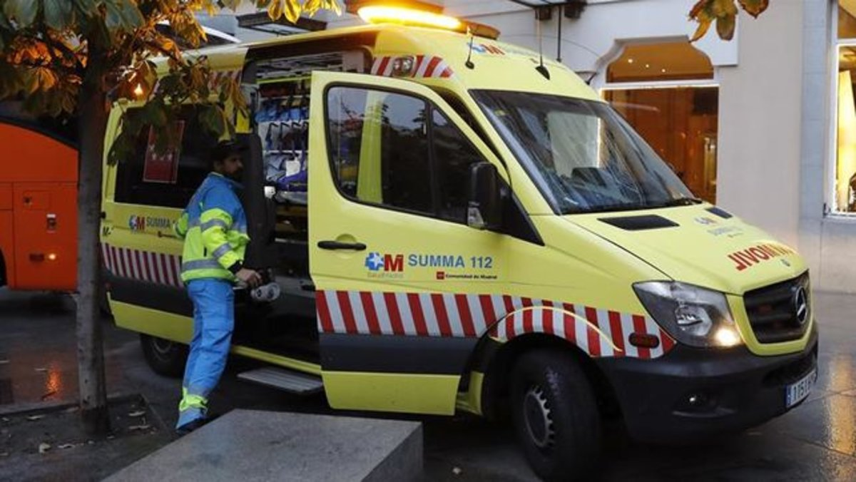 Una ambulancia del Summa 112 en Madrid.