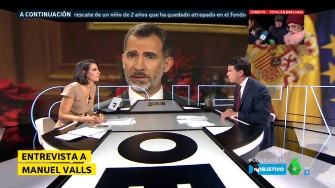 Ana Pastor con Manuel Valls (La Sexta).