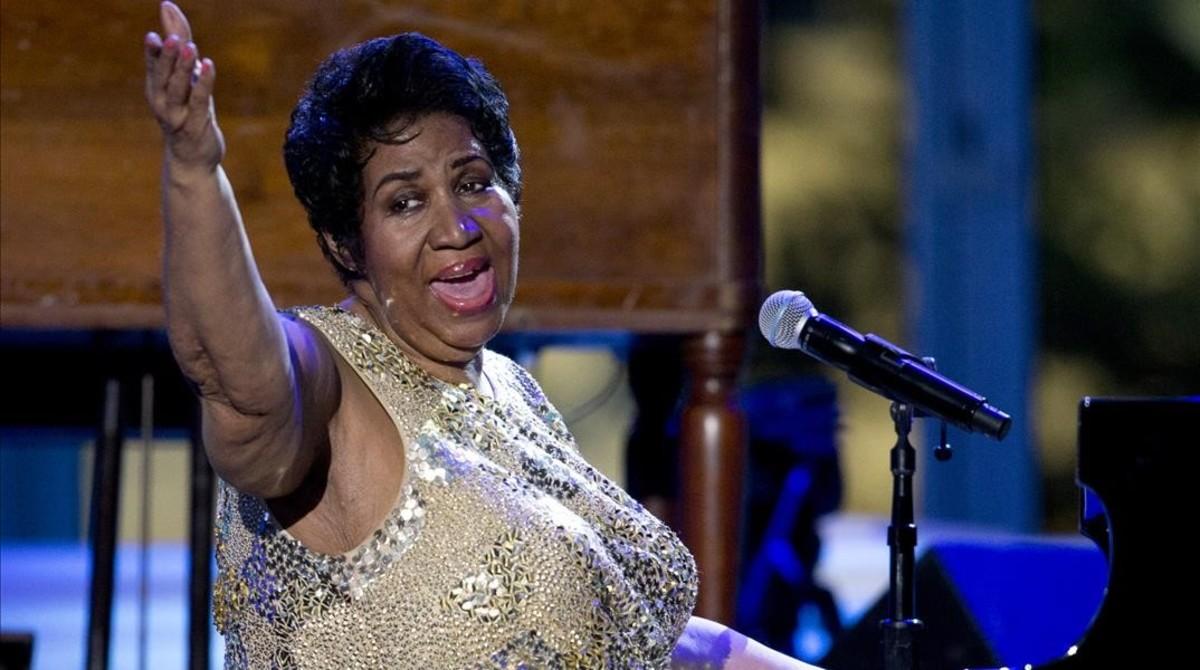 Aretha Franklin, durante un concierto en la Casa Blanca.