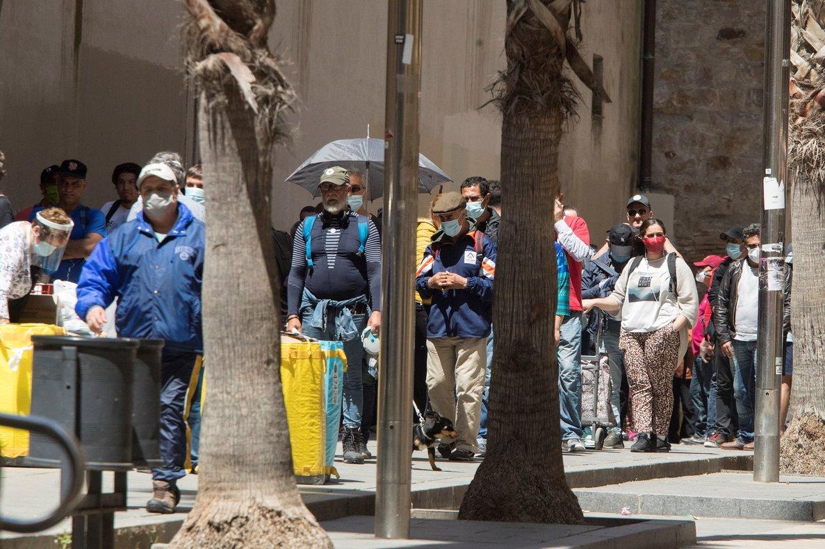 Aspecto del comedor socialReina de la Paz en el barrio del Raval de Barcelona.