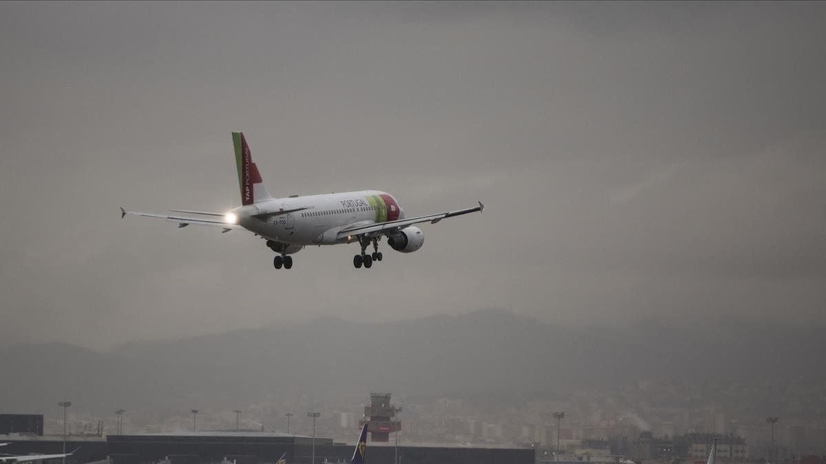 Un avión de la compañía TAP Portugal.