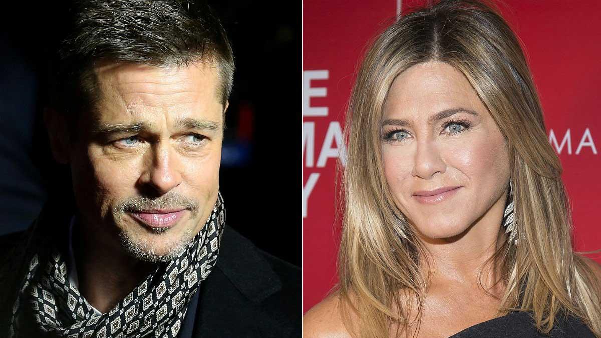 Brad Pitt asiste a la fiesta del 50 cumpleaños de Jennifer Aniston.