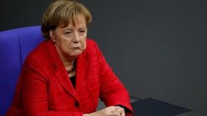 La cancillera Angela Merkel, el lunes.