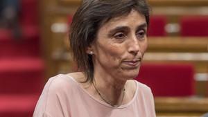Carola Miró, en el Parlament.