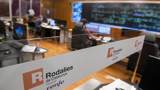 Visita al Centro de Control de Rodalies en las estaciones de França y del Clot