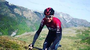 Chris Froome, en un entrenamiento.