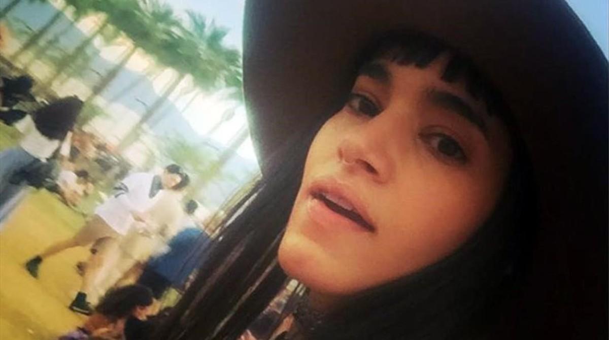Sofia Boutella, en el Festival de Coachella, el pasado fin se semana.