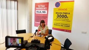 La concejala de Igualdad, Gemma Badia, ha anunciado las medidas que se implementarán en Gavà con el objetivo de erradicar la prostitución