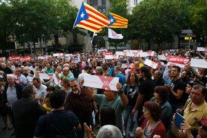 Concentración en Sabadell en apoyo de los CDR detenidos acusados de terrorismo.
