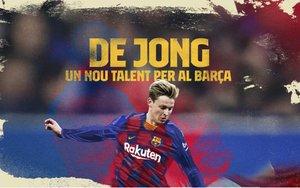 La composición fotográfica con la que el Barça anuncia la presentación de De Jong.