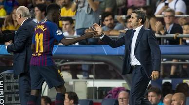 """Valverde: """"Dembélé ha cogido su sitio"""""""
