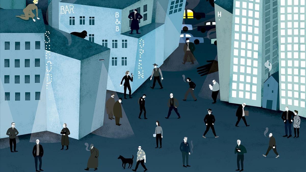 Detalle del cartel de BCNegra, obra de Natalia Zaratiegui.
