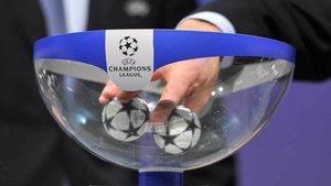 Detalle de un sorteo reciente de la Liga de Campeones.