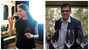 Laura Masramon, encargada de los maridajes entre vinos del Empordày artistas del festival Sons del Món,y el sumiller Ferran Centelles.