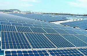 Paneles de energía solar.