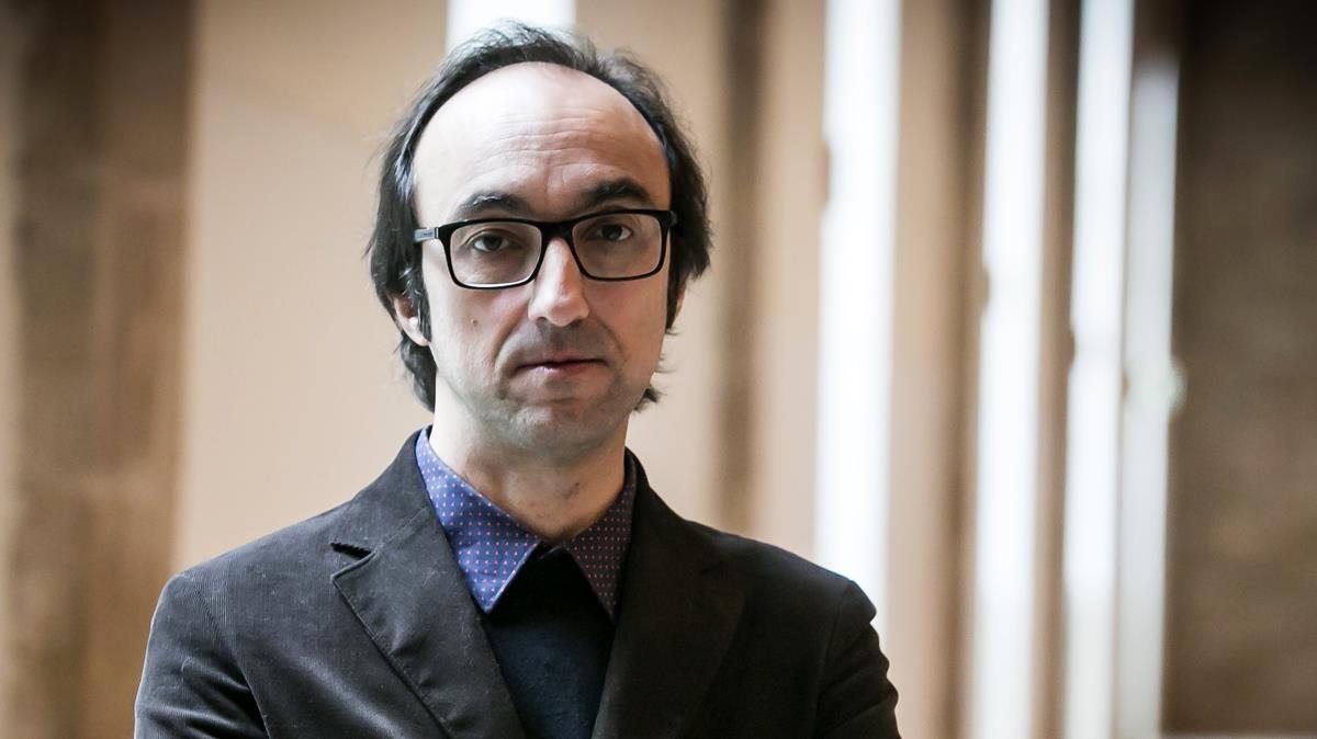 El escritor Agustín Fernández Mallo, en el Museu Marítim de Barcelona.