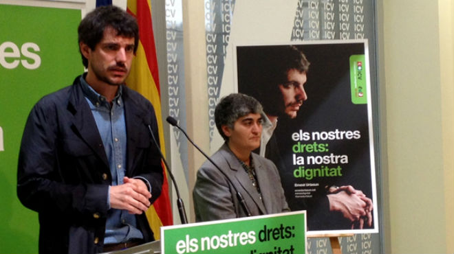 Presentació de l'espot d'ICV-EUiA per a les eleccions europees
