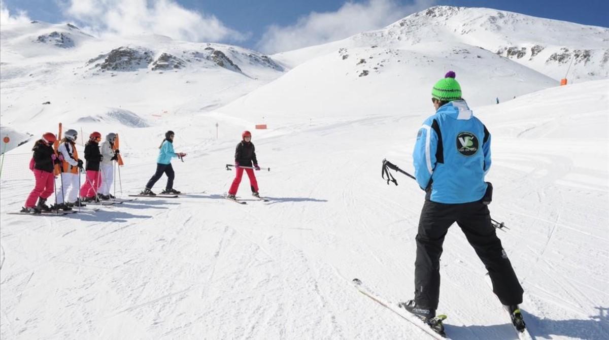 Esquiadores en Boí Taüll.