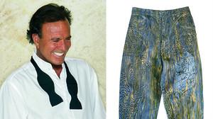 Estos son los vaqueros favoritos de Julio Iglesias que ha customizado el diseñador inglés Johny Dar.