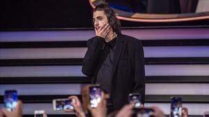 El cantante portugués Salvador Sobral, tras ganar el Festival de Eurovisión del 2017, en Kiev (Ucrania).