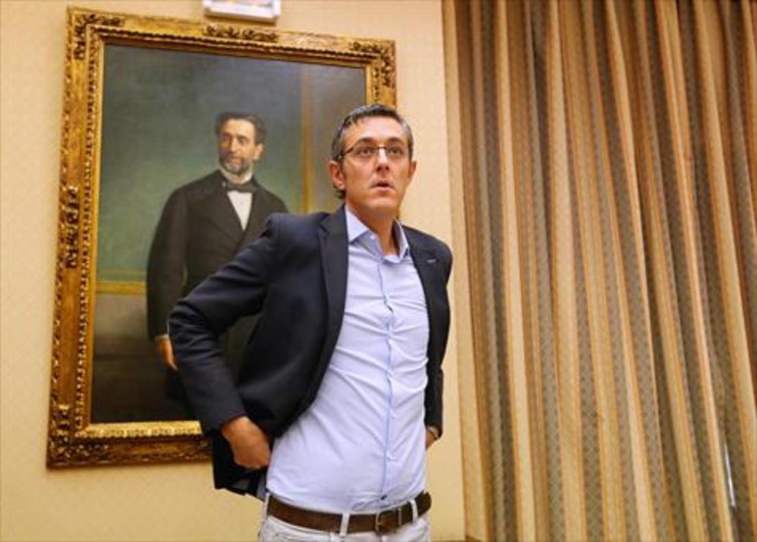 El ya exparlamentario socialista Eduardo Madina, en una dependencia del Congreso de los Diputados.