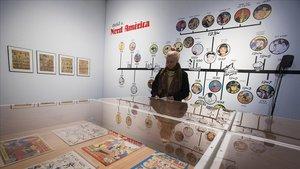 Exposición de cómic en el Centre dArt Santa Mònica.