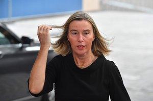 Federica Mogherini,jefa de la diplomacia de la Unión Europea.