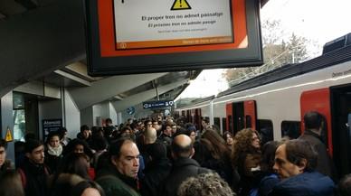 La rotura de un cable en un túnel de Vallvidrera alteró el tráfico ferroviario en el Vallès