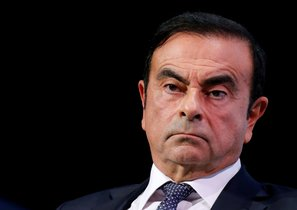 FILE PHOTO - Carlos Ghosn chairman and CEO of the Renault-Nissan-Mitsubishi Alliance attends the Tomorrow In Motion event on the eve of press day at the Paris Auto Show in Paris France October 1 2018 REUTERS Regis Duvignau File Photo