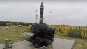 Foto del misil 'Avangard' distribuida por el Ministerio de Defensa ruso.