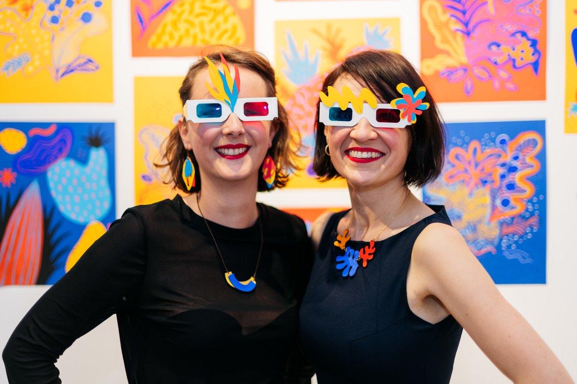Perrine Honoré (izquierda)y Marta Chojnacka, las dos autoras.