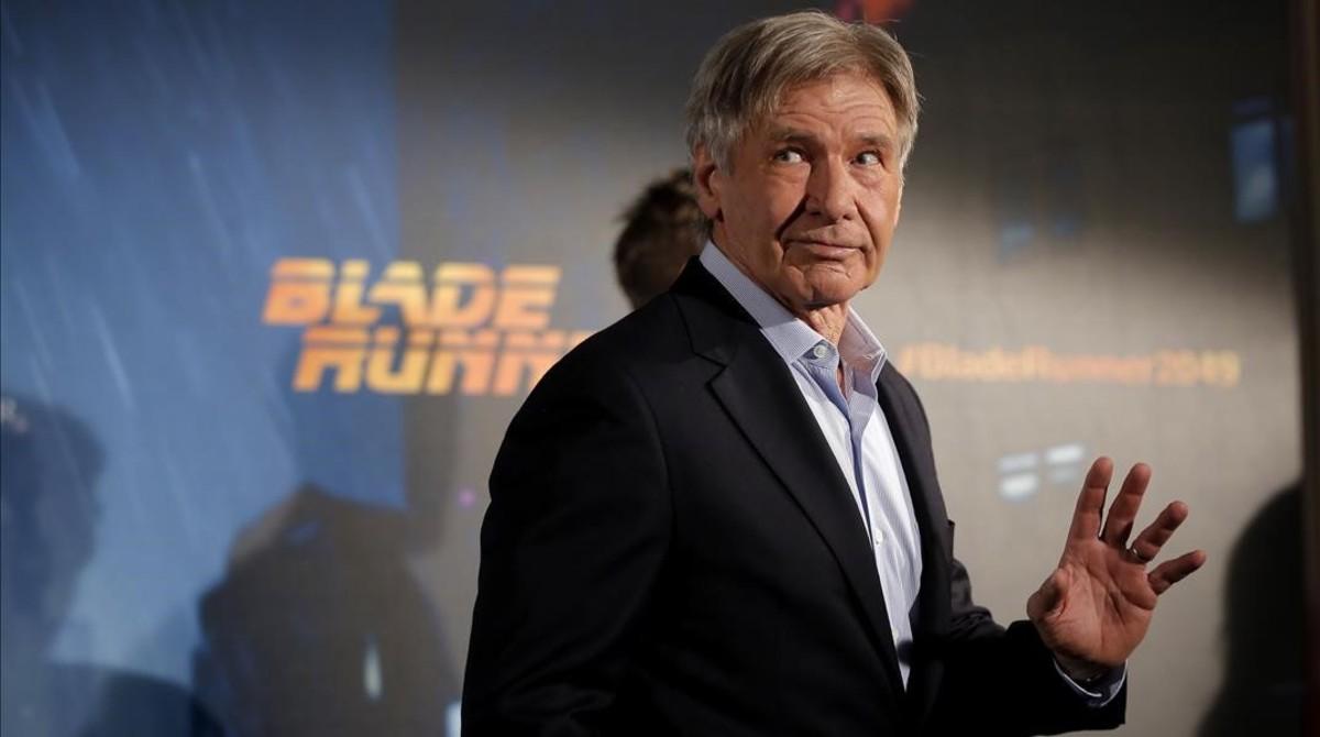 Harrison Ford, en Madrid, donde ha presentado a la prensa Blade runner 2049, que se estrena el 6 de octubre.