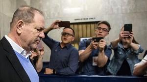 El productor Harvey Weinstein, tras testificar el pasado viernes en Nueva York.