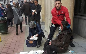 Heridos a las afueras de la estación de Maalbeek