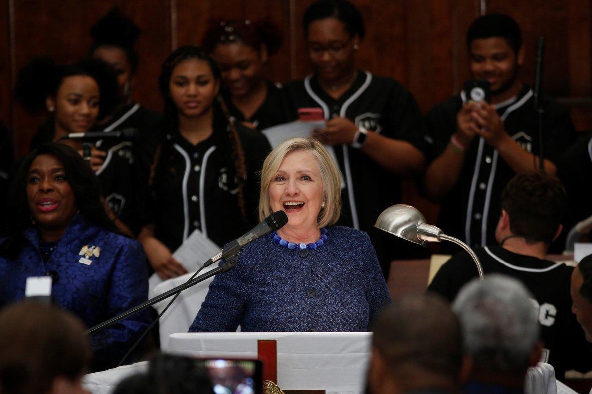 Hillary Clinton durante un evento de derechos humanos.