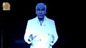 El holograma de Jorge Javier Vázquez en el décimo aniversario de Sálvame.