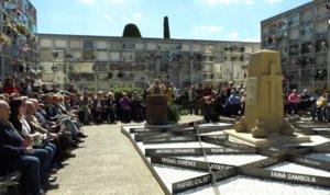 Homenaje a las víctimas de la Guerra Civil y el franquismo en Viladecans